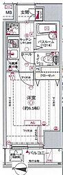 エステムコート池袋Prime Axia[4階]の間取り