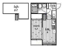 エアストSA[2階]の間取り