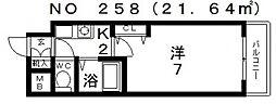 インターナショナル上汐[5階]の間取り