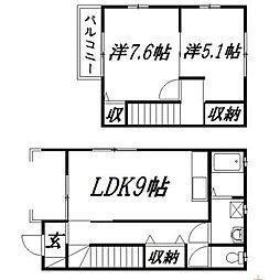 [一戸建] 静岡県浜松市中区早出町 の賃貸【/】の間取り