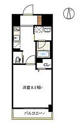 JR山陽本線 岡山駅 徒歩12分の賃貸マンション 1階1Kの間取り