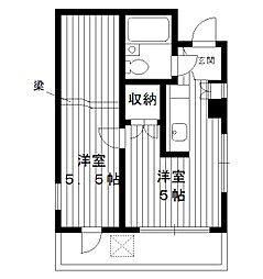 東京都練馬区栄町の賃貸マンションの間取り
