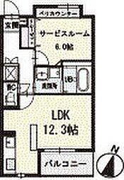 アイリス 3階[304号室]の間取り