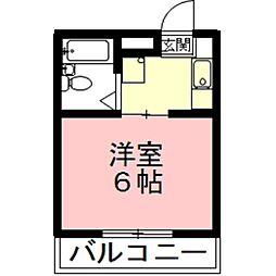 岐阜県各務原市那加楽天地町の賃貸アパートの間取り