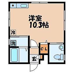 長崎県長崎市坂本1丁目の賃貸マンションの間取り