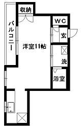 静岡県浜松市中区中央1丁目の賃貸マンションの間取り