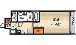 JR大阪環状線 京橋駅 徒歩7分の賃貸マンション 7階1Kの間取り