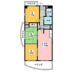 ヒルズ丸和[3階]の間取り