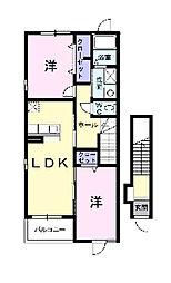 HIRO II[2階]の間取り