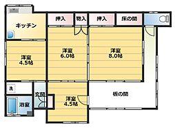 [一戸建] 神奈川県横須賀市船越町5丁目 の賃貸【/】の間取り