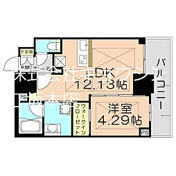 Osaka Metro御堂筋線 江坂駅 徒歩5分の賃貸マンション 9階1LDKの間取り