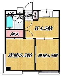 宮崎台田園マンション[301号室号室]の間取り