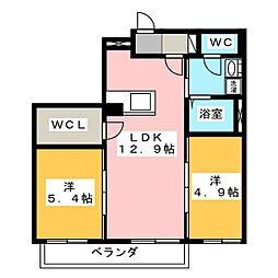 クロシュイット[2階]の間取り