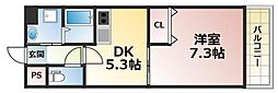 シャトー・ド・グリシーヌ[2階]の間取り