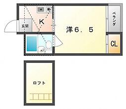 フォンタル高宮[2階]の間取り