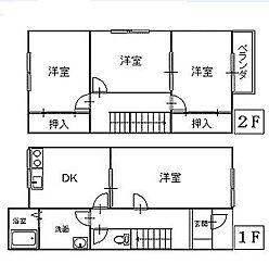 [テラスハウス] 青森県八戸市石堂2丁目 の賃貸【/】の間取り