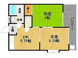 リピーナ山田[2階]の間取り