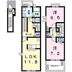 グレンディールIII[2階]の間取り