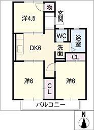 ホワイトフォーラム1[1階]の間取り