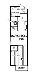 SAKURAマンション[1階]の間取り