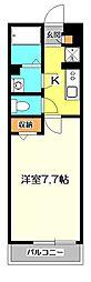 東京都国分寺市西町2丁目の賃貸アパートの間取り