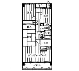 KDXレジデンス茨木II(旧:レガーロ茨木II)[0202号室]の間取り