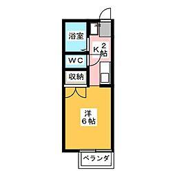 セジュール文教[1階]の間取り