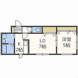 北海道札幌市東区北二十三条東13丁目の賃貸マンションの間取り