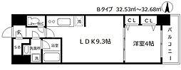スプランディッド淀屋橋DUE 11階1LDKの間取り