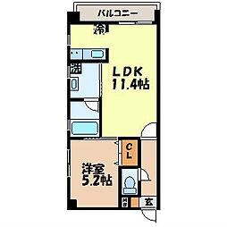 長崎県諫早市幸町の賃貸マンションの間取り