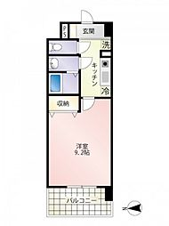 第23友建ビル 6階1Kの間取り