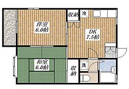 ムーンリット宮沢[1階]の間取り