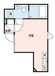 東武東上線 東武練馬駅 徒歩4分の賃貸アパート 1階ワンルームの間取り