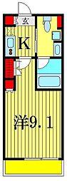リシュブール四つ木[2階]の間取り