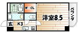 ホワイトバレ-八幡駅前[4階]の間取り