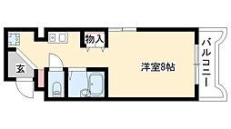 愛知県名古屋市昭和区安田通1丁目の賃貸マンションの間取り