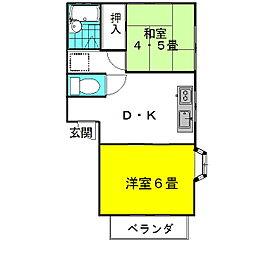 茨城県神栖市知手の賃貸アパートの間取り