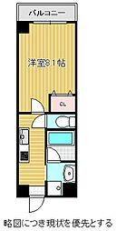 名古屋市営東山線 本山駅 徒歩7分の賃貸マンション 4階1Kの間取り