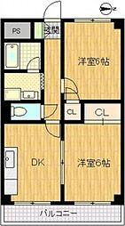 サンライズマンション[5階]の間取り