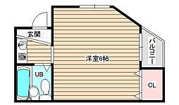 ボンジュール福島[3階]の間取り
