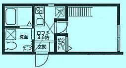 コートハウス溝の口A[1階]の間取り