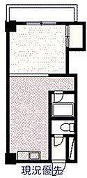 サンライズコスモ 7階ワンルームの間取り
