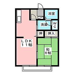 ロワール[2階]の間取り