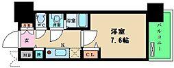 プレサンス松屋町駅前デュオ 11階1Kの間取り