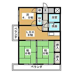 扶桑ハイツI[7階]の間取り