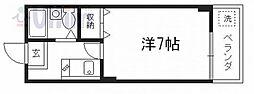 京都府京都市東山区大和大路1丁目の賃貸マンションの間取り