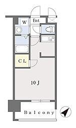 ALFACIO DIFOND 11階ワンルームの間取り