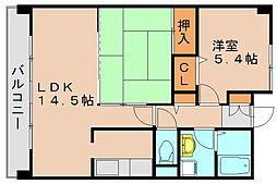 フェリーチェ原田2[2階]の間取り