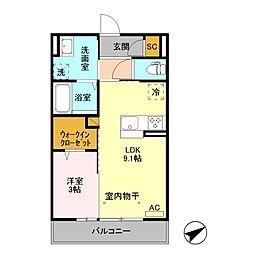 ボヌール /[2階]の間取り