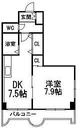 エンドレス三井南3西7[301号室]の間取り